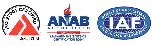 Логотипы A-Lign, ANAB и IAF