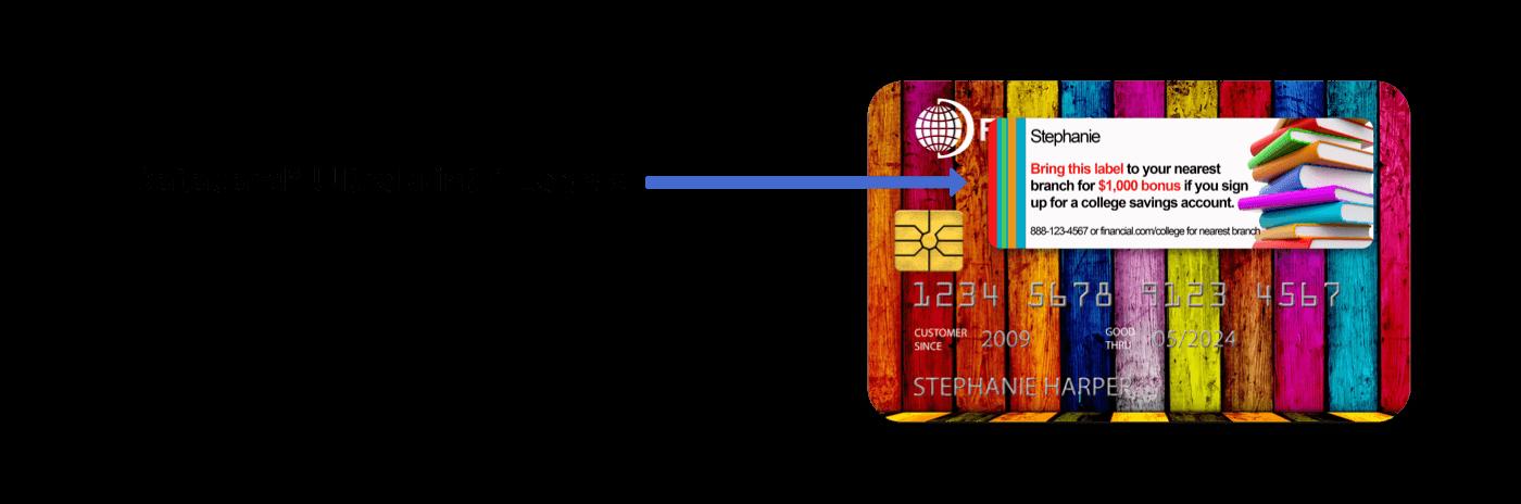 ilustração de etiquetas ultra-impressas datacard
