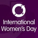 International Womens Day logo on purple background