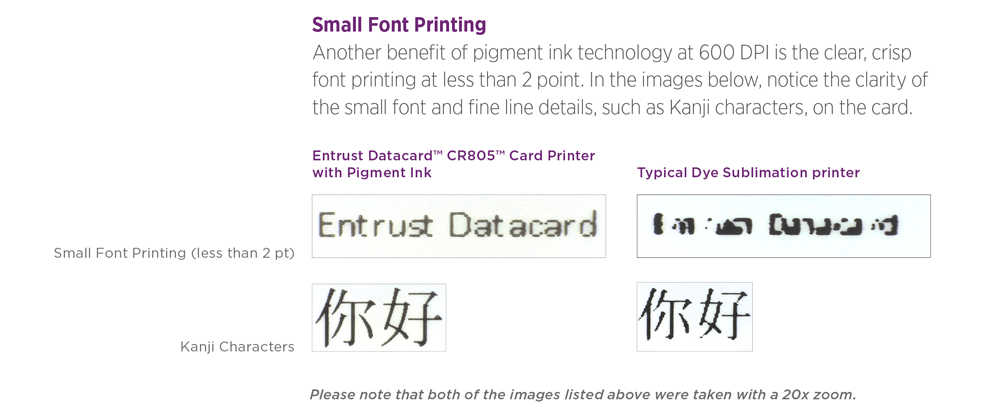 the next generation of id card printing small font printing