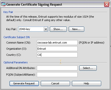 Certificate Signing Request (CSR) Help: Cisco ASA