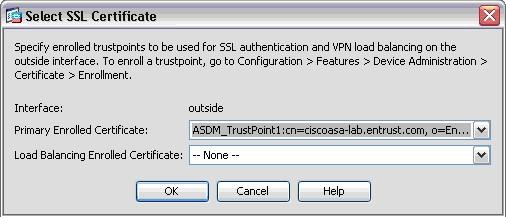 SSL/TLS Certificate Installation Instructions - Cisco ASA SSL