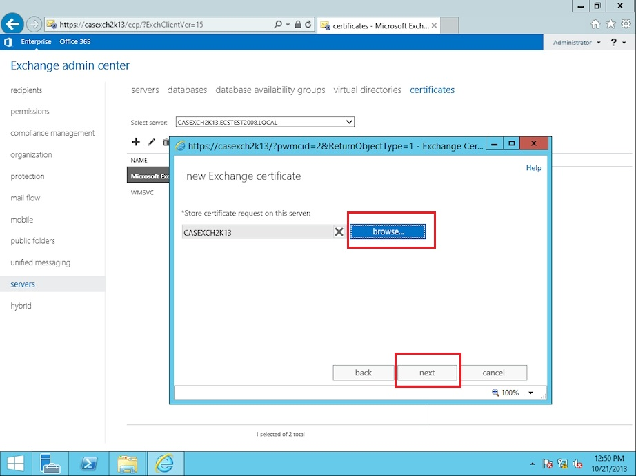 How Do I Create A Certificate Signing Request Csr From Microsoft Exchange 2013