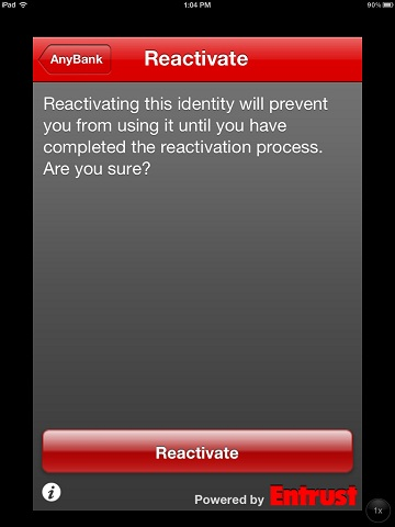 How do I reactivate my Soft Token on my iPhone?