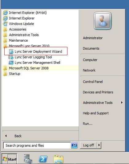 How do i generate a csr on edge server with microsoft lync 2010 start all programs microsoft lync server 2010 lync server deployment wizard yadclub Images