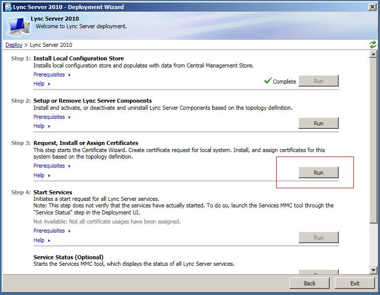 How do i generate a csr on edge server with microsoft lync 2010 click run button on step 3 request install or assign certificates yelopaper Gallery