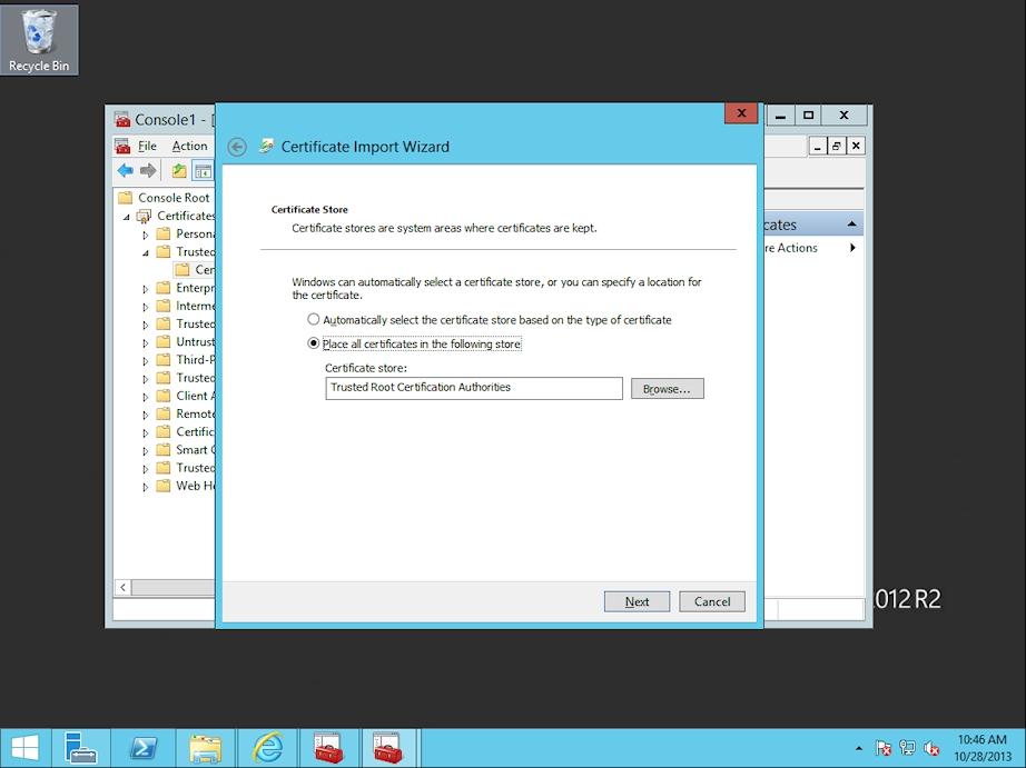 How Do I Install Entrust Root Certificate On Windows 2012 Server