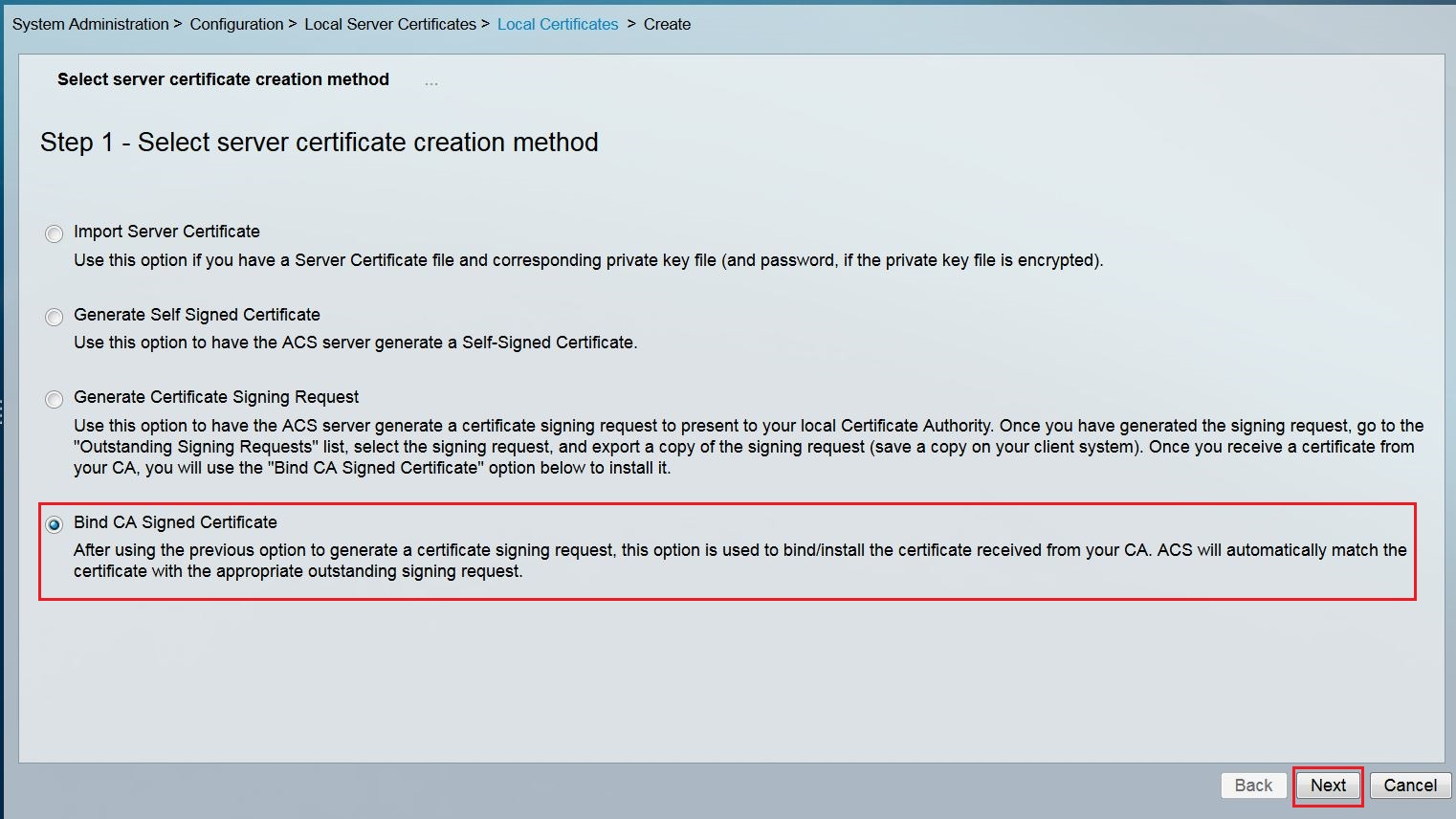 Entrust datacard ssltls certificate installation instructions select bind ca signed certificate and click next button to continue 1betcityfo Image collections