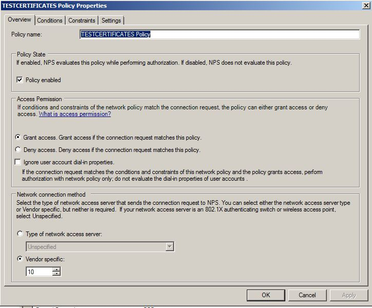 How is the Server Certificate installed on Microsoft Network