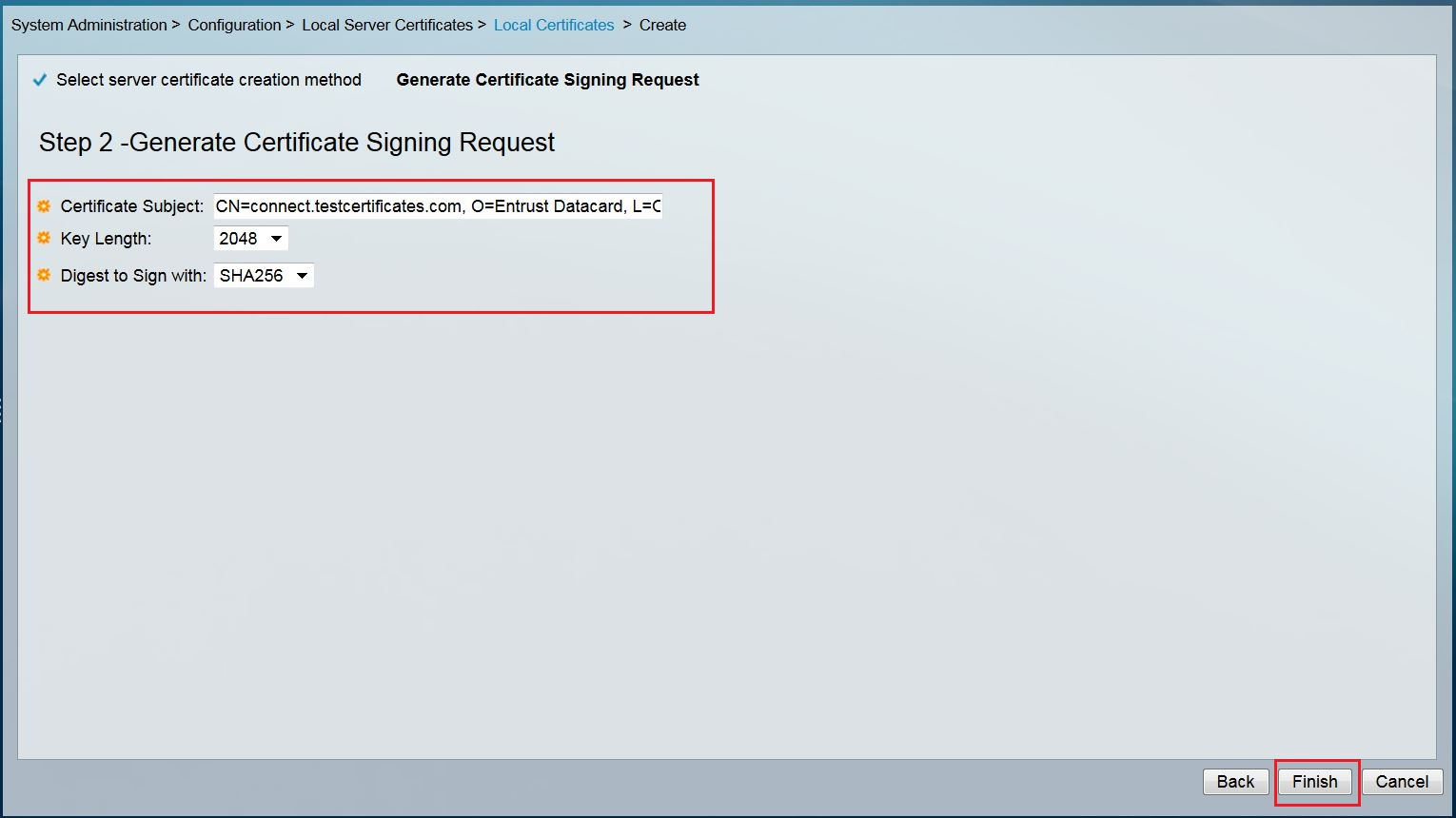 Certificate signing request csr help cisco secure acs version 5x 6 a notification window will be appeared and click ok button to complete the process 1betcityfo Image collections